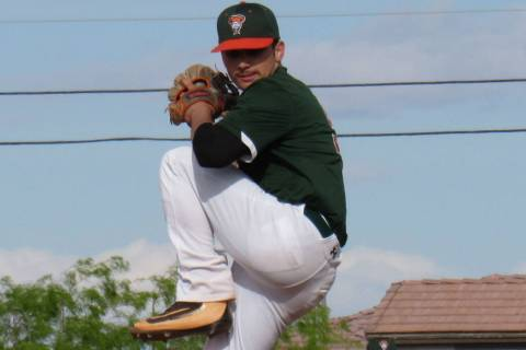 Mojave pitcher Mike Cianci tossed a perfect game on Thursday, April 11, 2019 against Del Sol ...