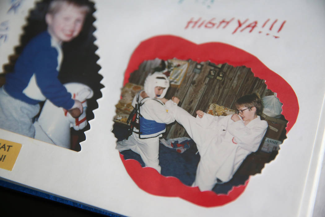 At the home of Chris Jachimiec, a picture of a young Chris Jachimiec, left, and his brother Ada ...