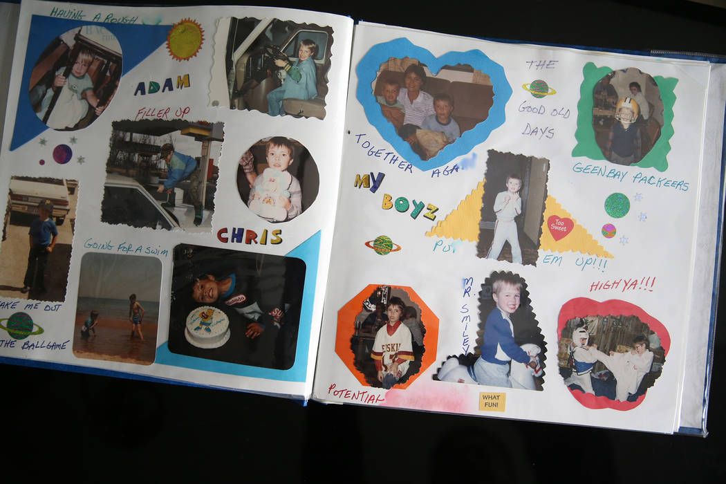 At the home of Chris Jachimiec, a family picture album his mother put together, Friday, March 8 ...