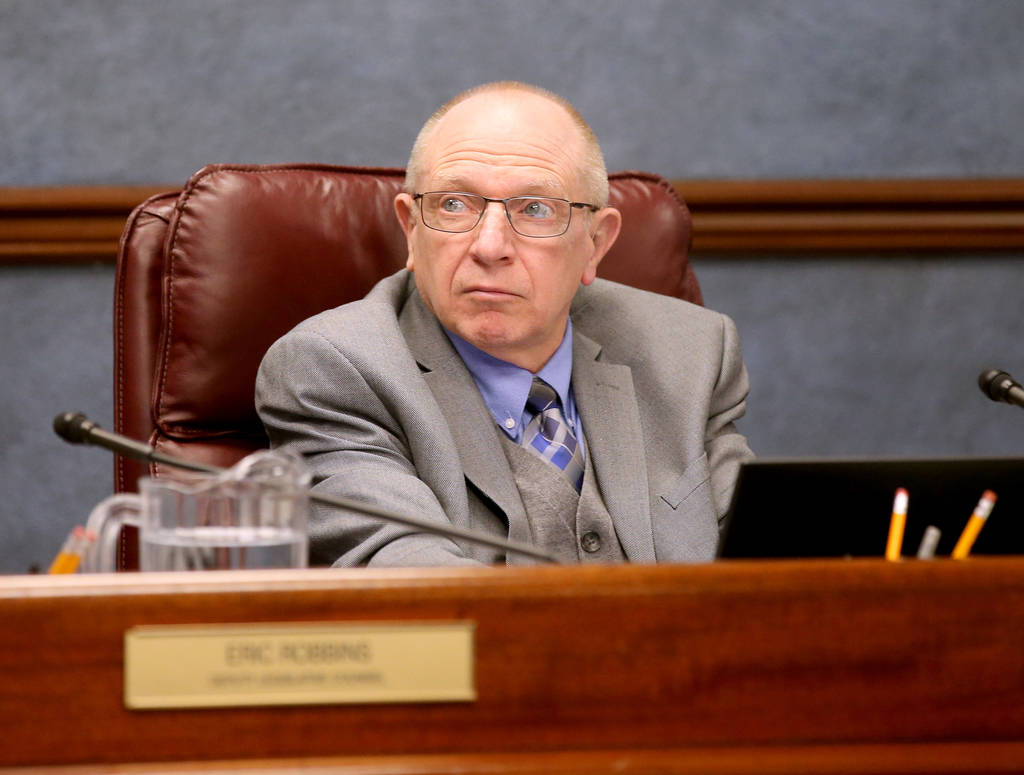 Sen. Joe Hardy, R-Boulder City, during a Health and Human Services Committee meeting in the Leg ...