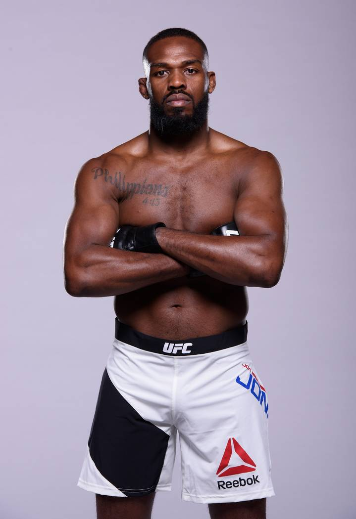 Jon Jones poses for a portrait during the UFC Unstoppable photo shoot on March 3, 2016 in Las V ...