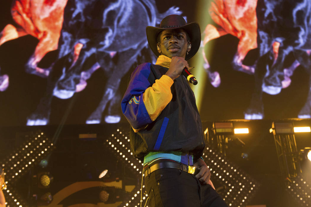 Musical artist Lil Nas X performs at HOT 97 Summer Jam 2019 at MetLife Stadium on Sunday, June ...