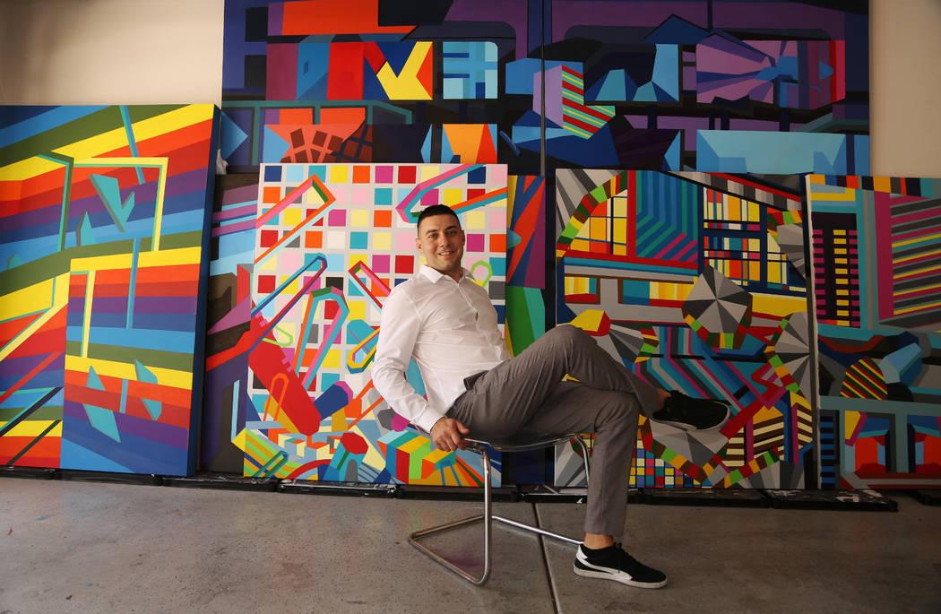 Conceptual artist Valentin Yordanovat his studio in Las Vegas, Wednesday, June 19, 2019. ...