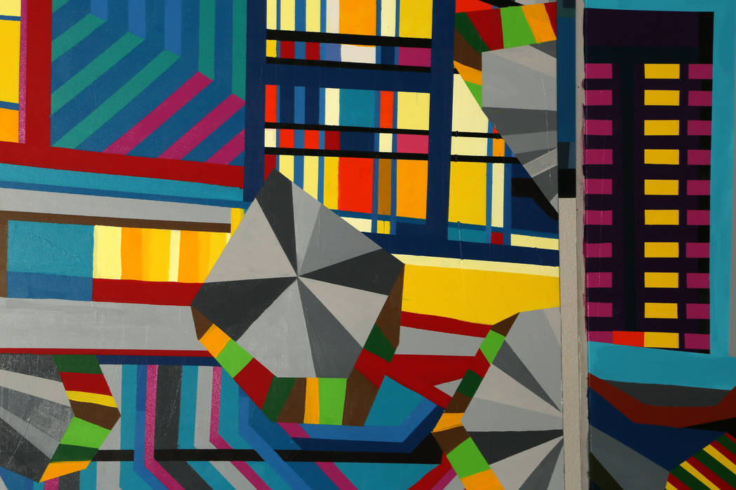 Paintings by conceptual artist Valentin Yordanov at his studio in Las Vegas, Wednesday, June 19 ...