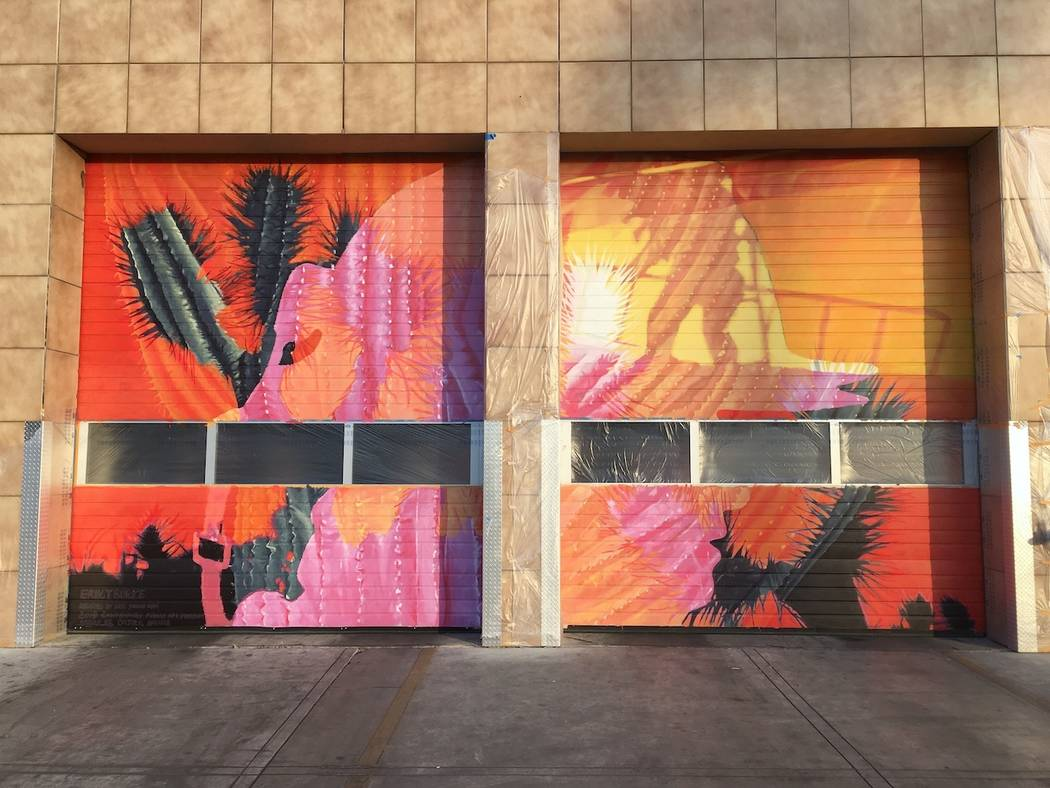 "Erik Burke's mural ""6 Ways to Draw Attention"" at Fire Station HQ 1. Erik Burke"