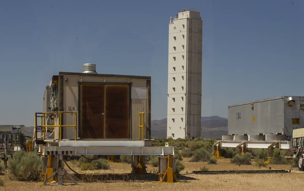 Power stations and other equipment still remain at the Icecap modular tower site within the Nev ...