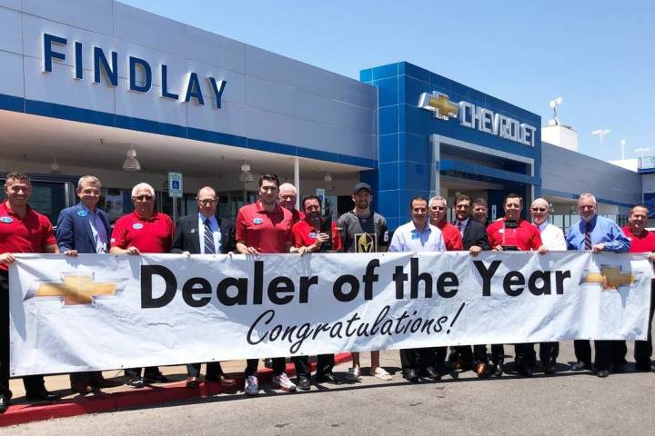A big celebration took place recently when Findlay Chevrolet was named Dealer of the Year for t ...