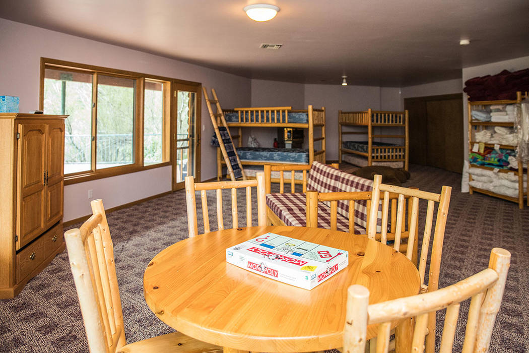 The basement has bunk beds and an entertainment area. (Tonya Harvey Real Estate Millions)