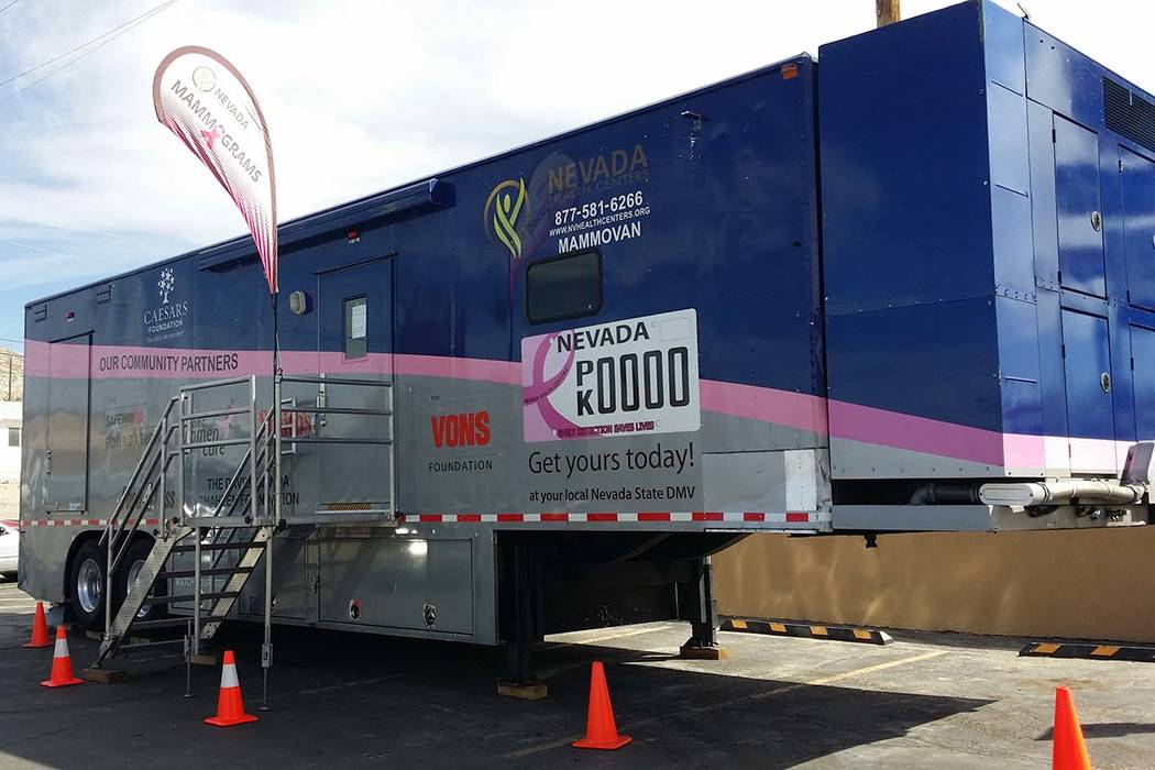 Nevada Health Centers' mammovan (David Jacobs/Tonopah Times-Bonanza & Goldfield News)
