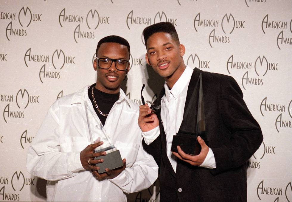 DJ Jazzy Jeff, left, and The Fresh Prince are seen backstage at the American Music Awards cerem ...