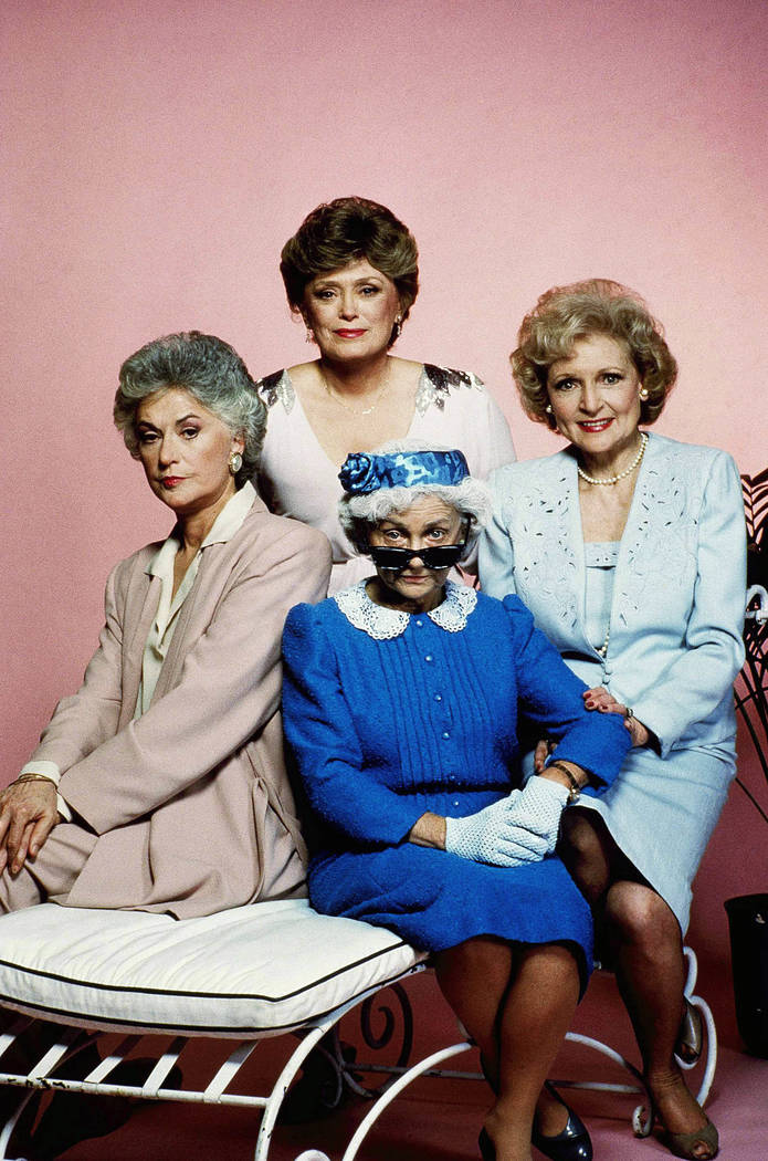 """Cast members of the television series """"Golden Girls,"""" pose for a photo, clockwise from left, Be ..."""