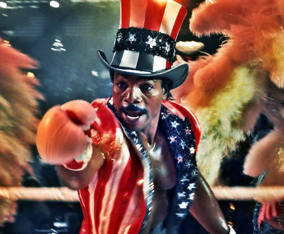 """Carl Weathers as Apollo Creed in """"Rocky IV."""" (MGM)"""