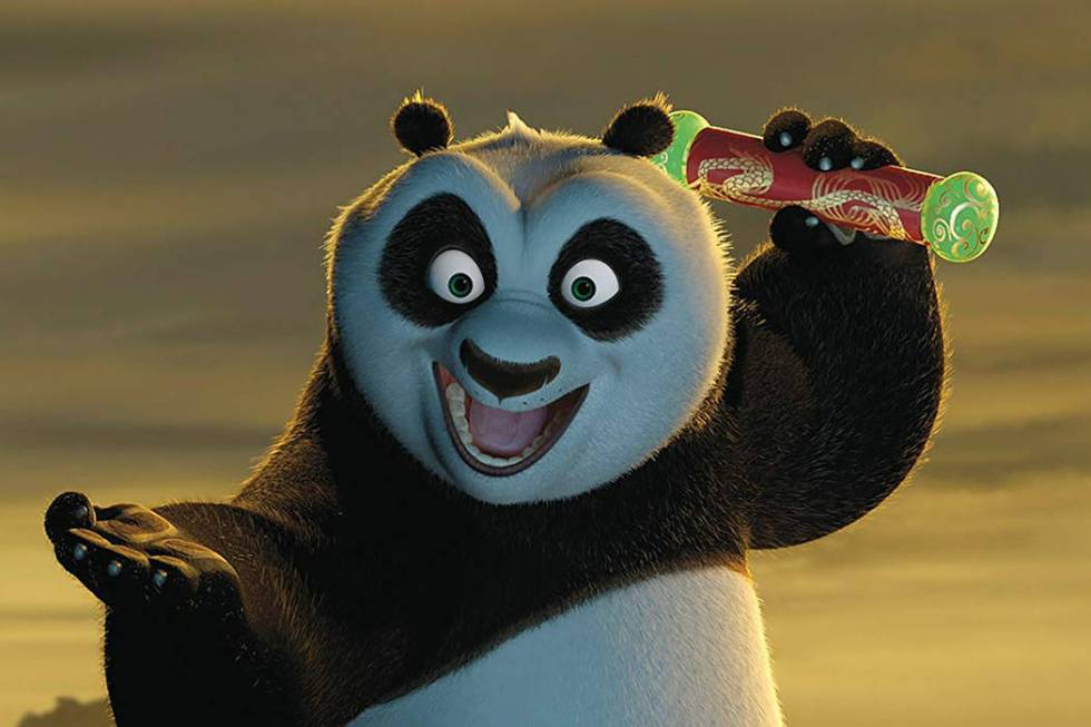 "Po (voiced by Jack Black) in ""Kung Fu Panda"" (DreamWorks Animation)"