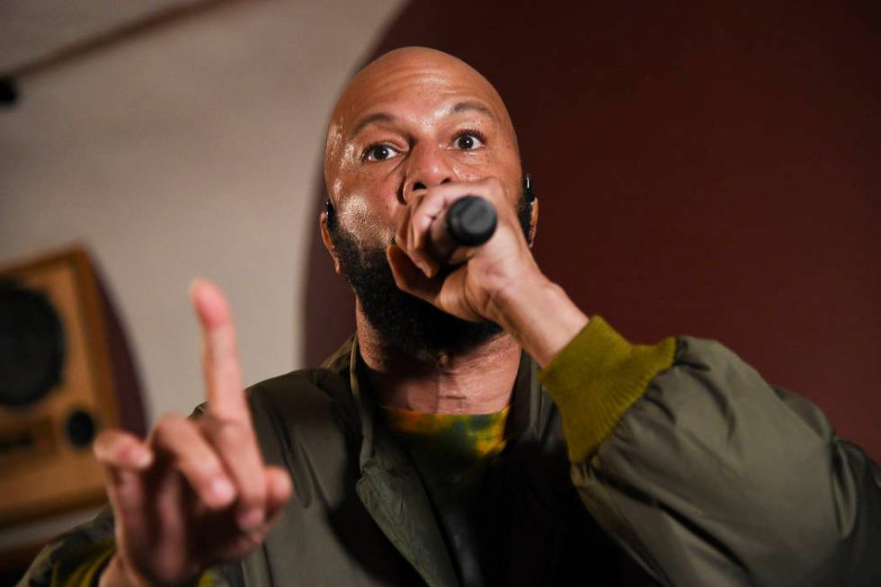 Hip-hop recording artist Common performs at the Woodstock 50 lineup announcement at Electric La ...