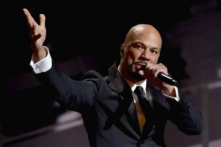 """Musician Common performs """"Glory"""" from """"Selma"""" onstage during the 87th Annual Academy Awards at ..."""