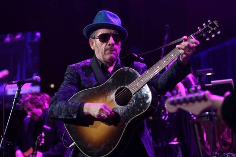 "Singer Elvis Costello performs at the ""Right To Rock Benefit"" at Cipriani Wall Street ..."