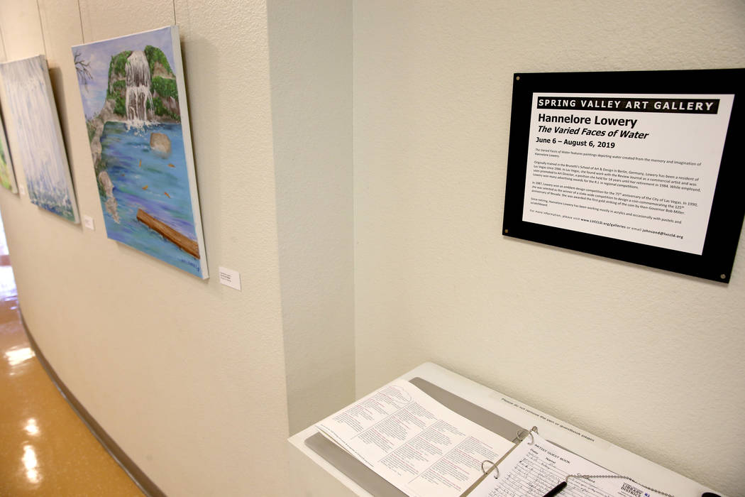 Hannelore Lowrey's exhibit 'The Varied Faces of Water' at the Spring Valley Library in Las Vega ...