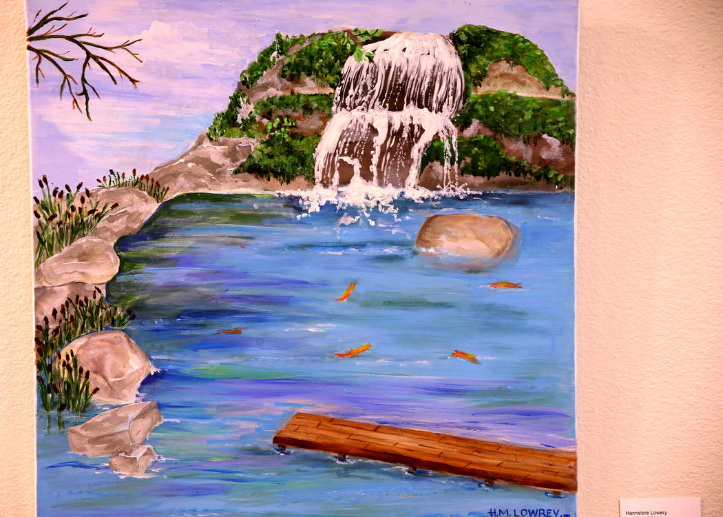 """Koi Pond Water acrylic on canvas is part of Hannelore Lowrey's exhibit """"The Varie ..."""