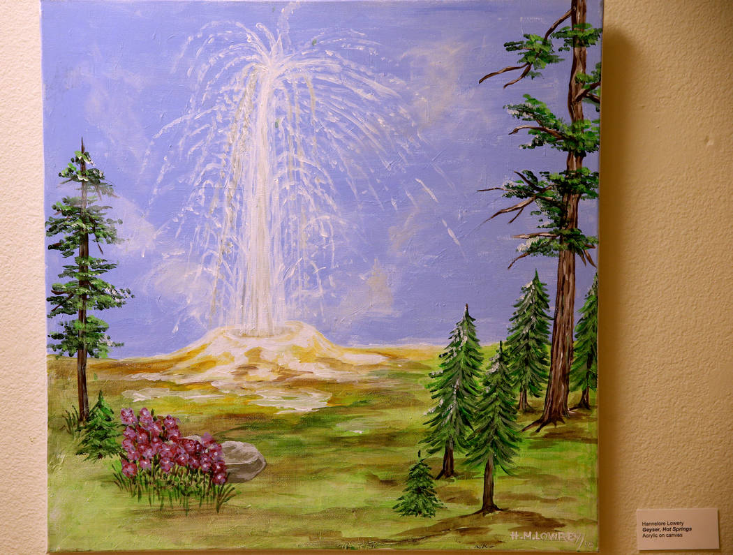 Geyser, Hot Springs acrylic on canvas is part of Hannelore Lowrey's exhibit 'The Varied Faces o ...