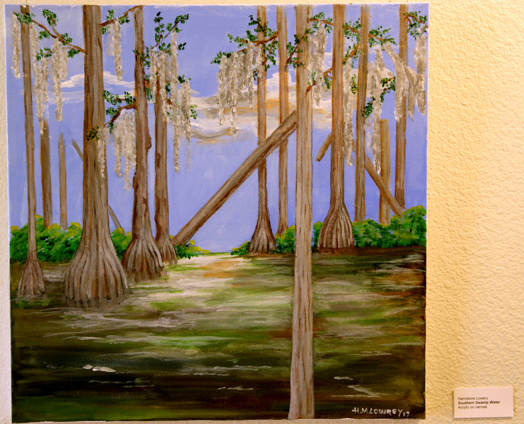 Southern Swamp Water acrylic on canvas is part of Hannelore Lowrey's exhibit 'The Varied Faces ...