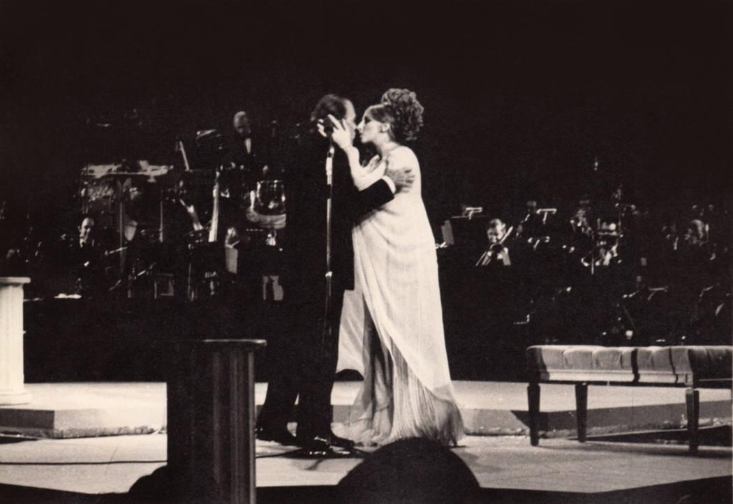 Ed Sullivan and Barbara Streisand at the Las Vegas Hilton. (Westgate)