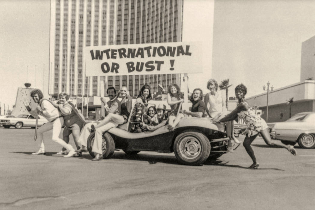 """""""Bottoms Up"""" cast at the International in Las Vegas in 1970. (Westgate)"""