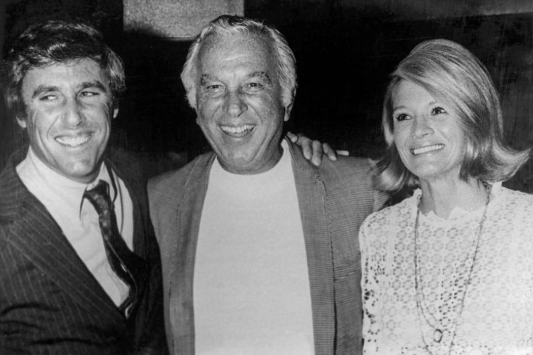 Burt Bacharach, left, Bill Miller and Angie Dickinson at the International in Las Vegas in 197 ...