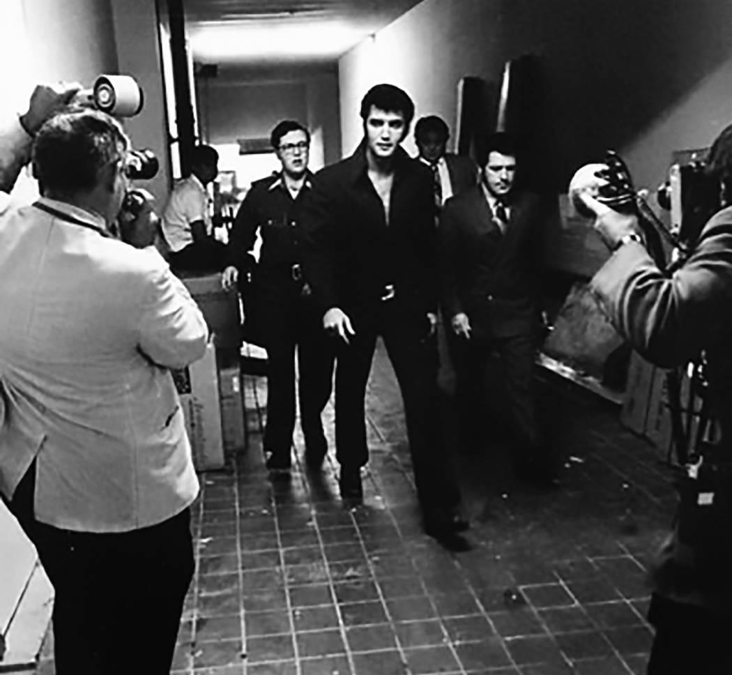 Elvis Presley at the International in Las Vegas. (Westgate)