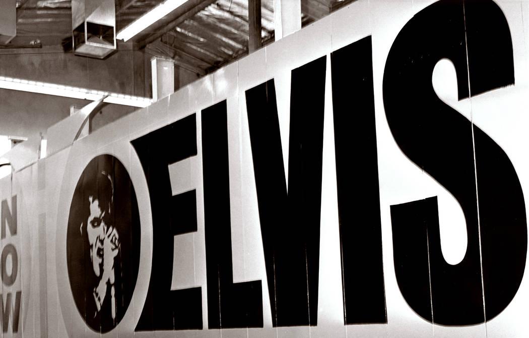 Elvis Presley signage at the Las Vegas Hilton. (Westgate)