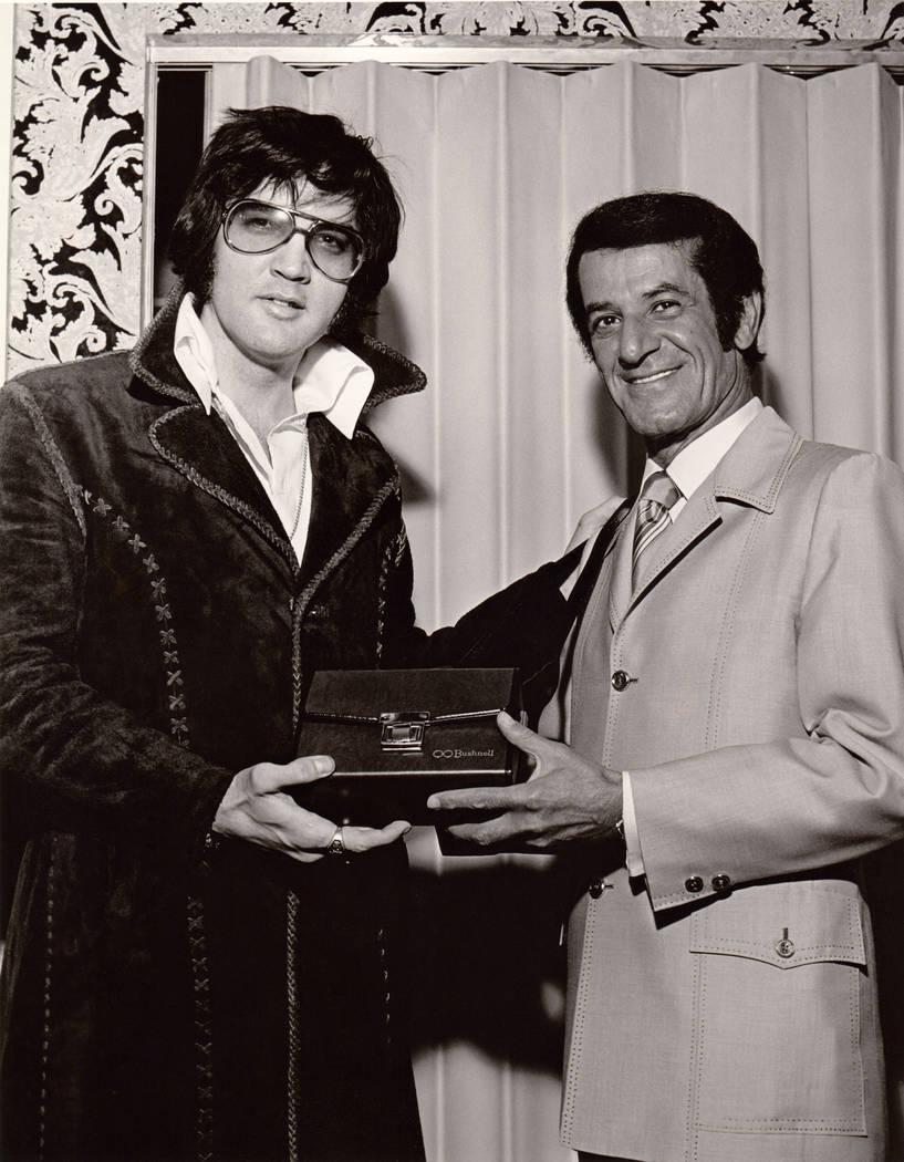 Elvis Presley, left, at the International in Las Vegas. (Westgate)