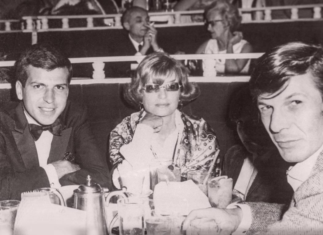 Frank Sinatra Jr., Sandra Zober and Leonard Nemoy at the Las Vegas Hilton in 1971. (Westgate)