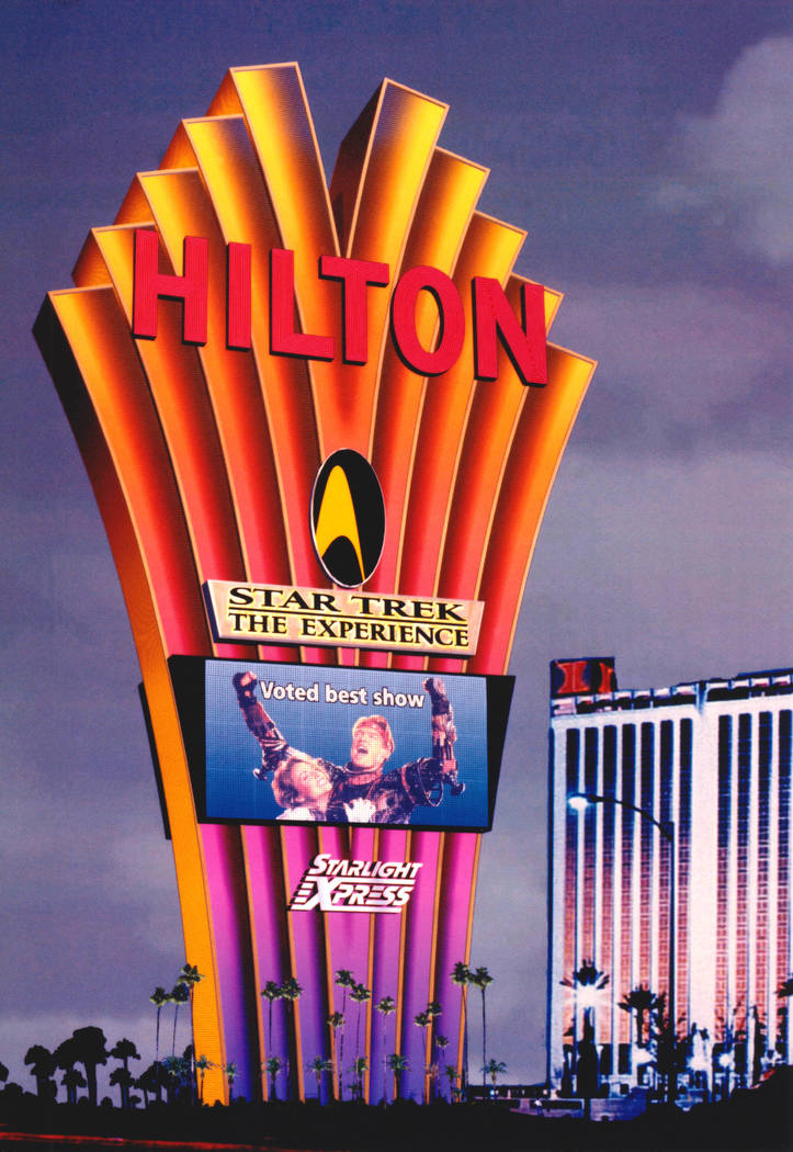 Exterior and marquee at the Las Vegas Hilton. (Westgate)