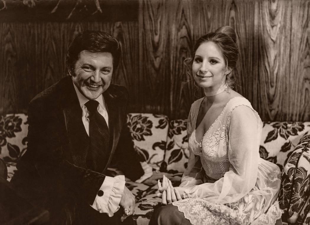 Liberace and Barbra Streisand at the Las Vegas Hilton in Las Vegas. (Westgate)