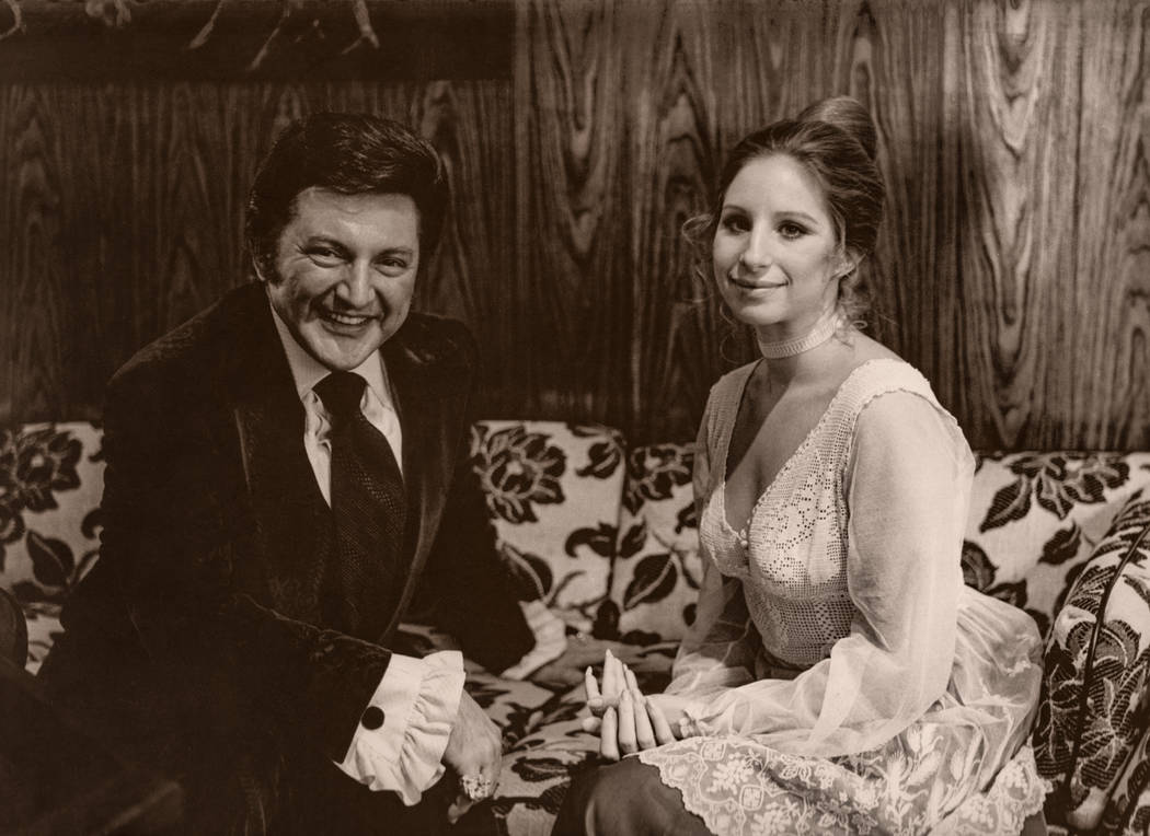 Liberace and Barbra Streisand at the Las Vegas Hilton in Las Vegas. (Westgate)