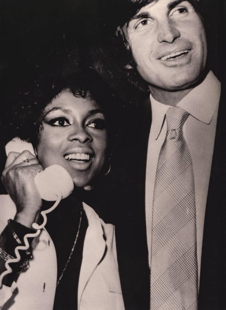 Lola Falana and George Hamilton at the Las Vegas Hilton in Las Vegas in 1976. (Westgate)