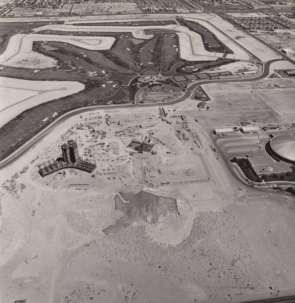 Aerial construction photo of the International in Las Vegas. (Westgate)