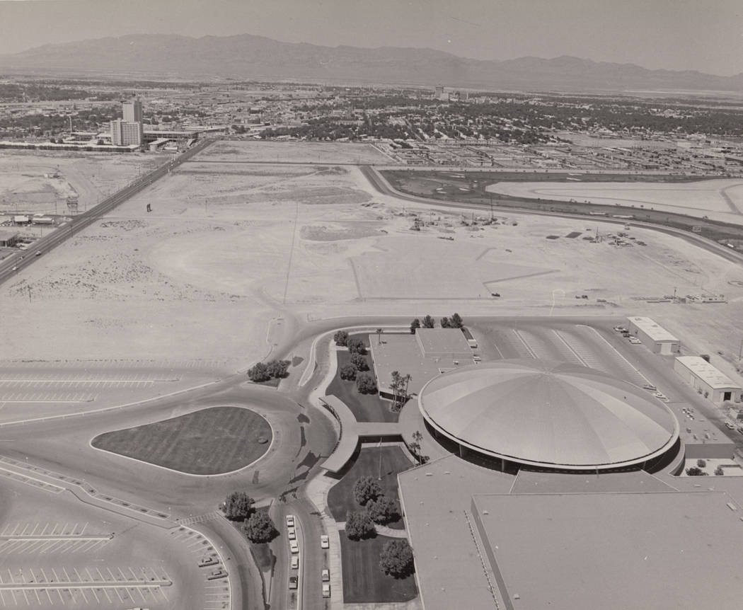 Aerial photo shows the future site of the International in Las Vegas. (Westgate)