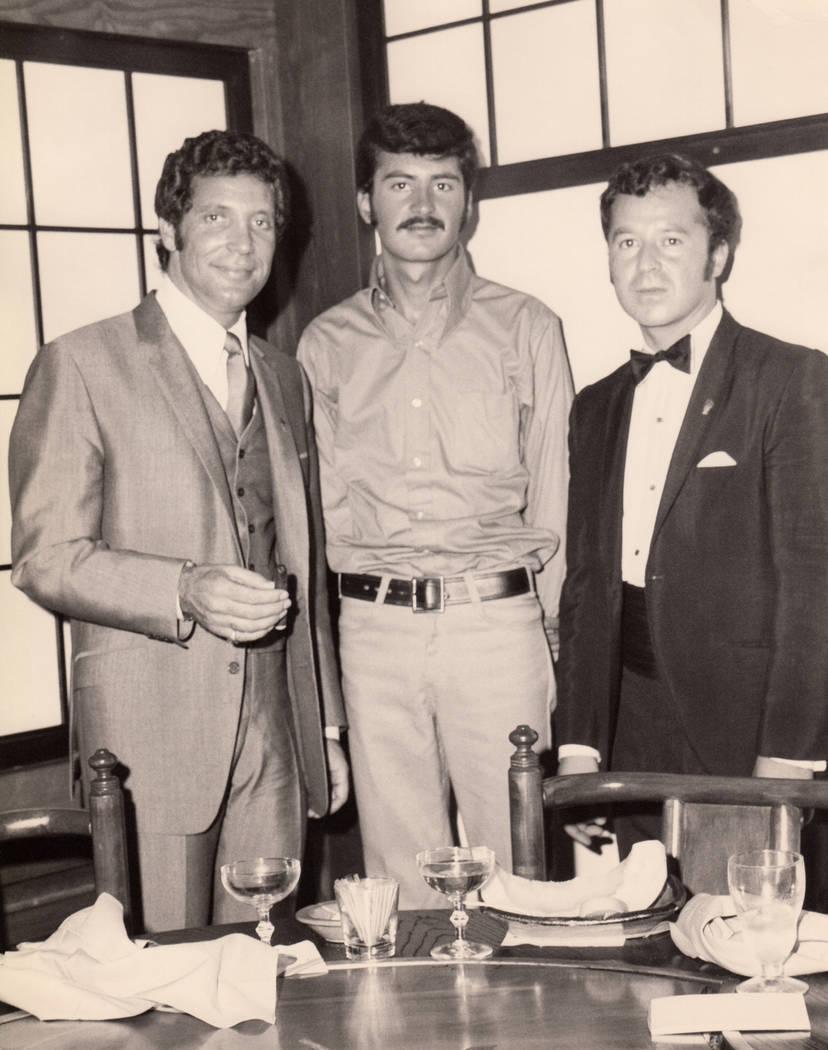 Tom Jones, left, at the Las Vegas Hilton. (Westgate)