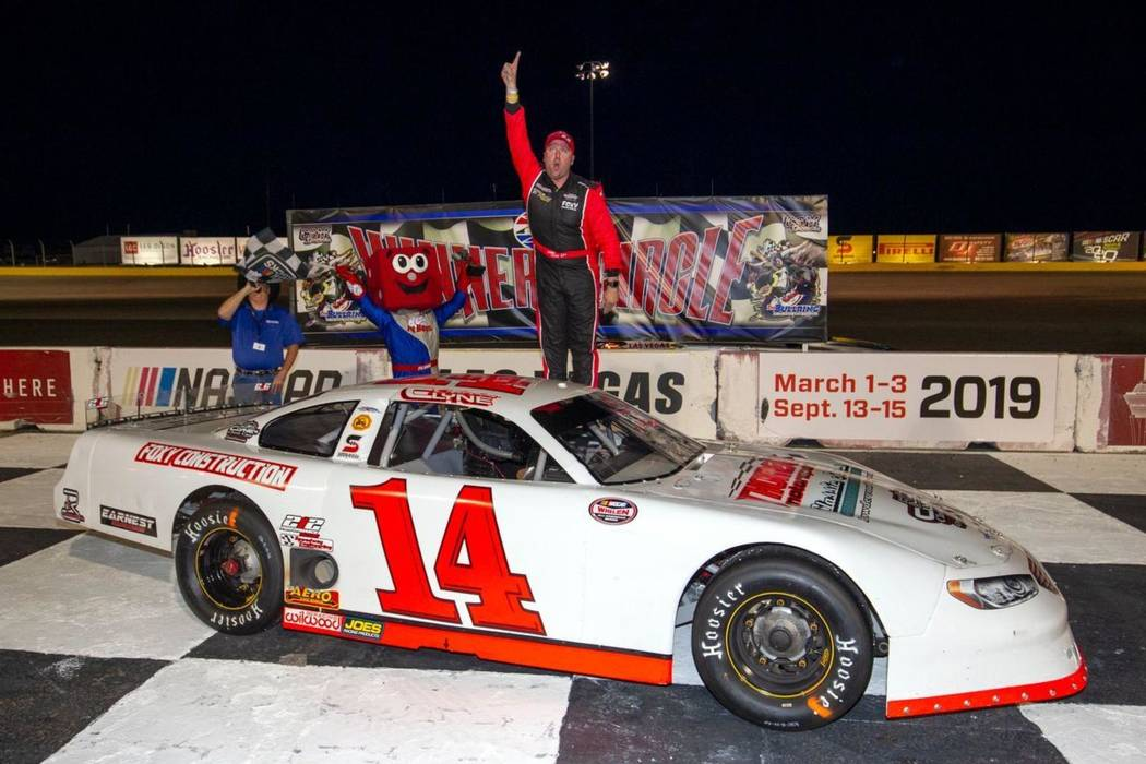 Chris Clyne has become the man to beat in the Super Late Models division at the Bullring at Las ...