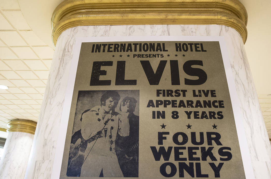 A commemorative plaque celebrating Elvis Presley's shows at the International Hotel, now Westga ...