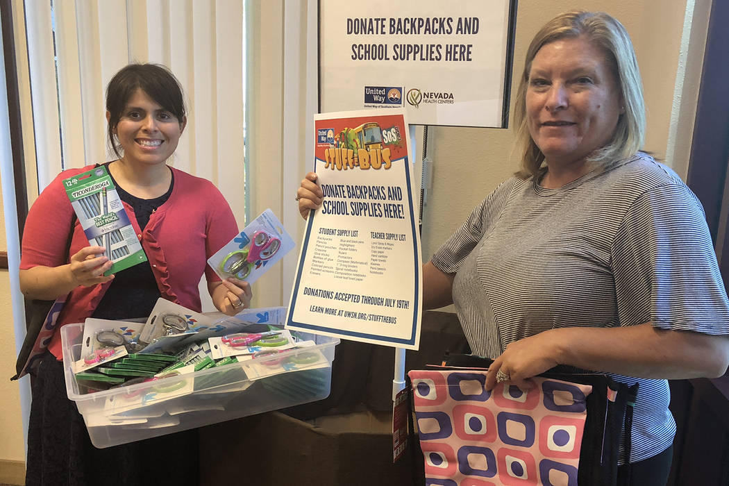 Marisol Tolle, left, interim director of social impact, and Gina Perez, early education program ...