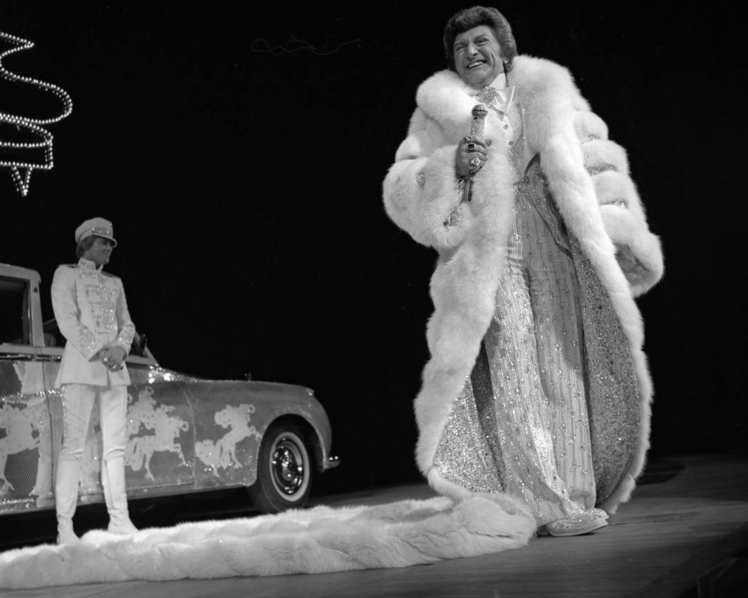 Liberace at the Las Vegas Hilton in 1979. (Courtesy)