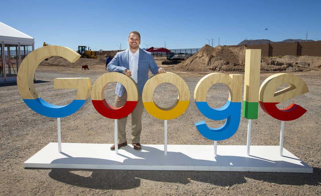 Andrew Silvestri, Google head of data center public policy & community development, at the cons ...