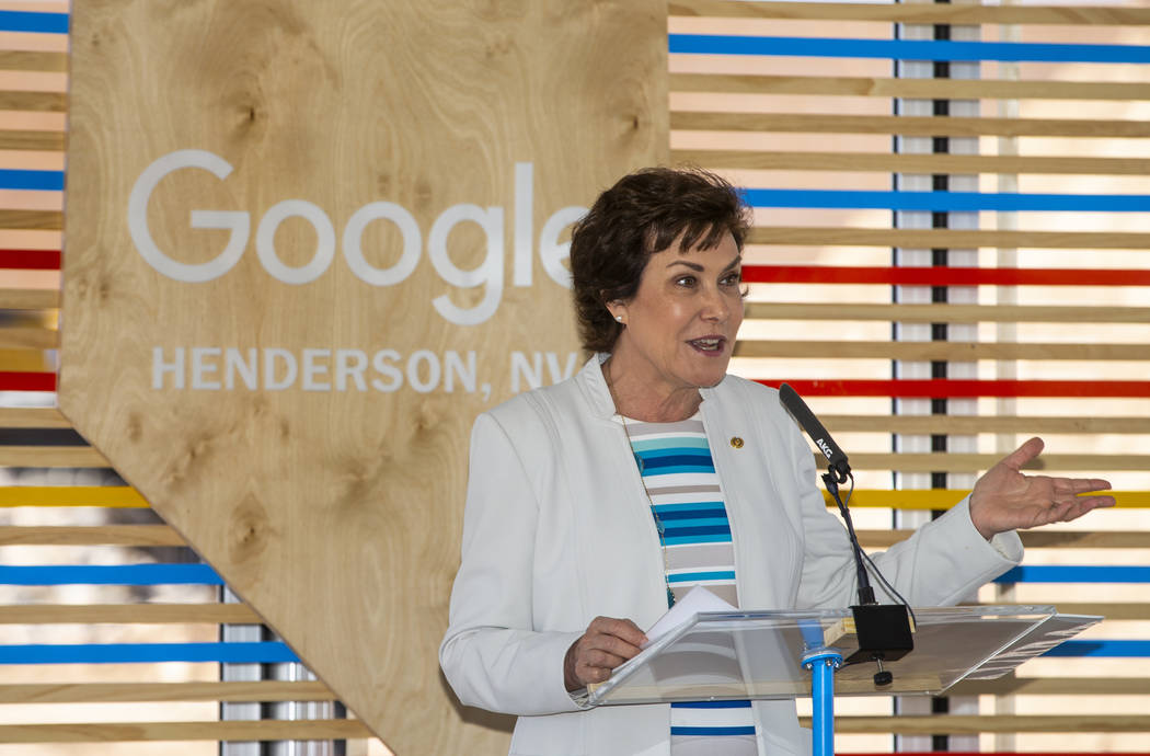 U.S. Sen. Jacky Rosen, D-Nevada, welcomes the added state revenue and growth in the area during ...