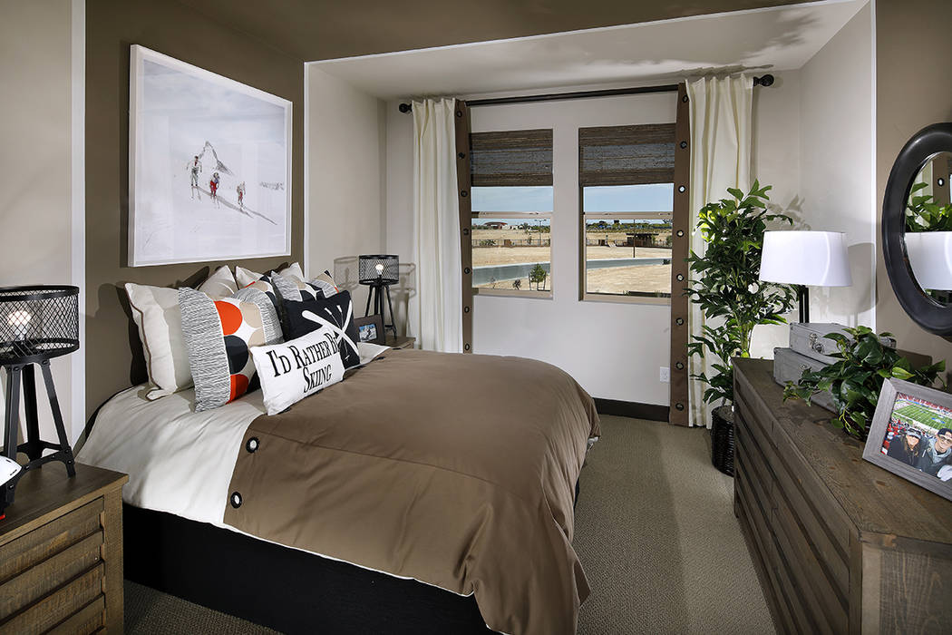 Terra Luna Plan Four has four bedrooms, including a master suite. (Anthony Gomez, A.G. Photogra ...