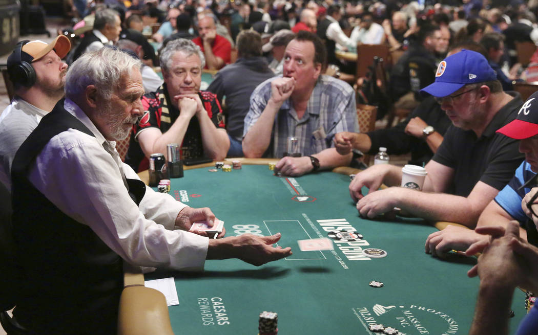 Joe Esposito, 72, who has been dealing at the World Series of Poker Tournament (WSOP) for the l ...