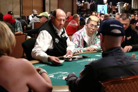 Blair Fedder, 70, who has been dealing at the World Series of Poker Tournament (WSOP) for the l ...
