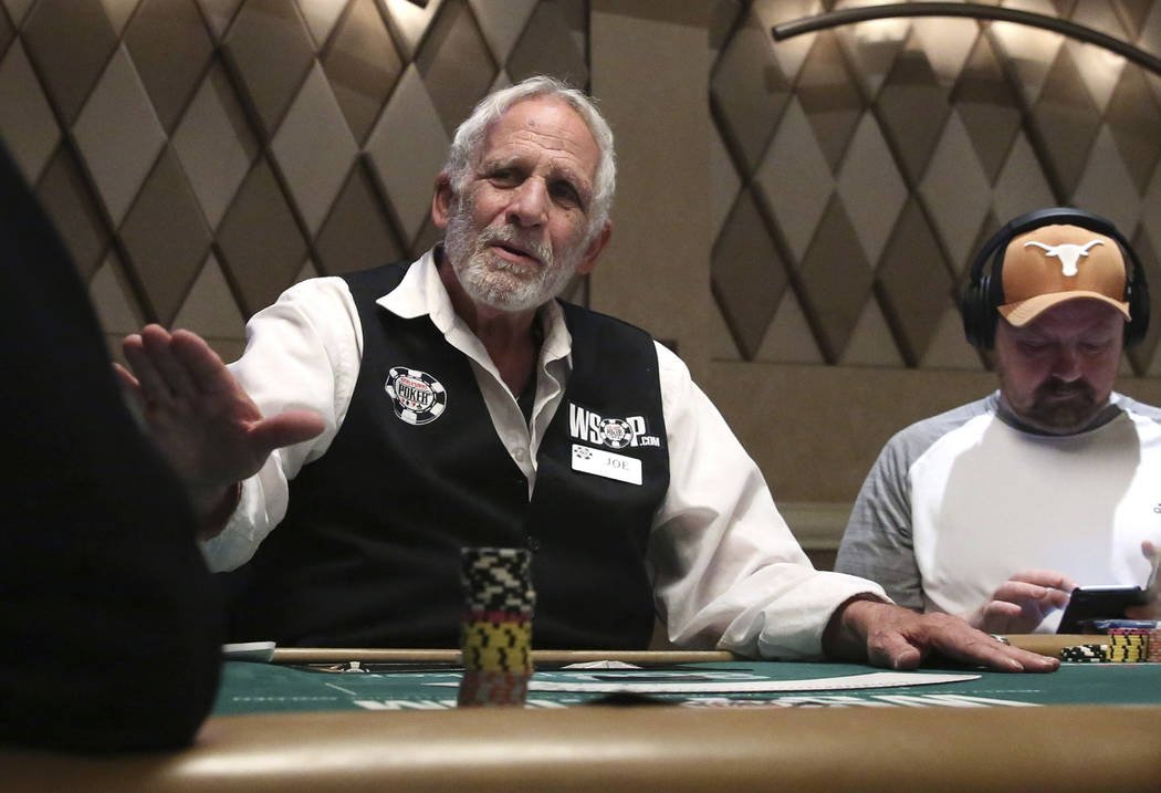 Joe Esposito, who has been dealing at the World Series of Poker Tournament (WSOP) for the last ...