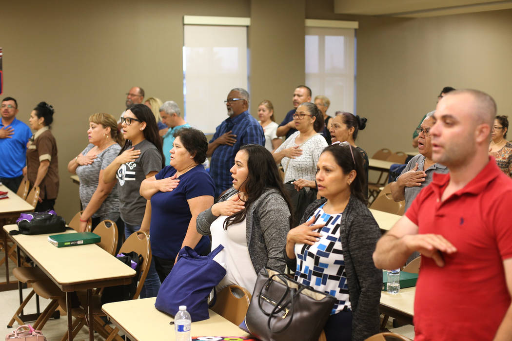 Las Vegas residents study to become citizens — VIDEO | Las