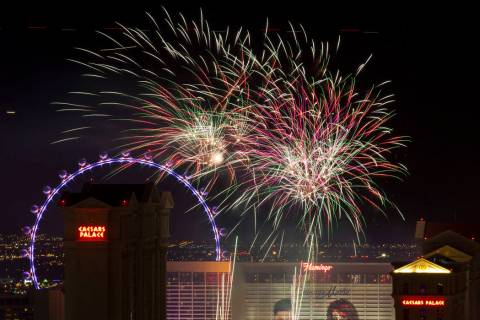 About 330,000 visitors are expected in the Las Vegas area for the Fourth of July weekend. (Rich ...